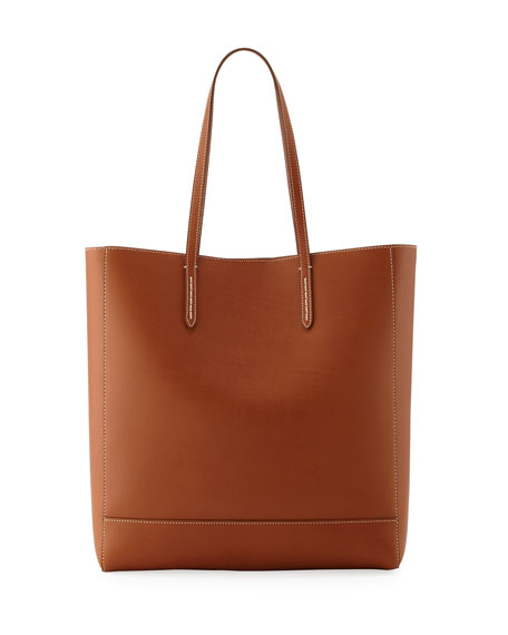 Modern Leather Tote Bag, Brown