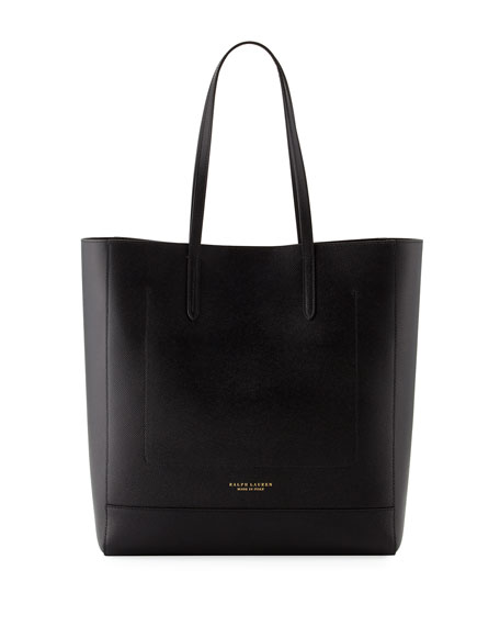 Ralph Lauren Modern Leather Tote Bag, Black