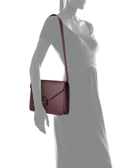 Goa Flap-Top Crossbody Bag, Wine