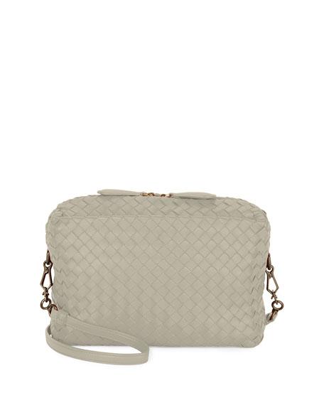 Bottega Veneta Shoulder bags SMALL INTRECCIATO CAMERA BAG, BLACK