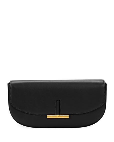 Small Sasha T Magnet Clutch Bag, Black