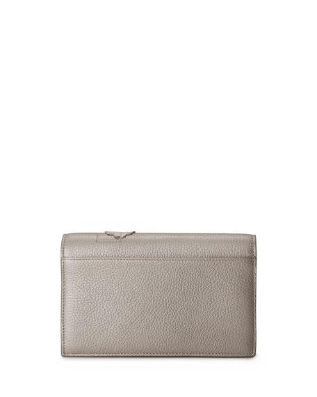 Anouk Buttercup-Embellished Envelope Clutch Bag, Blue