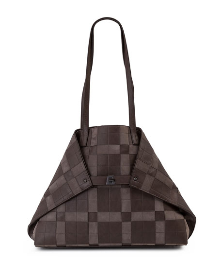 Akris AI Medium Patchwork Shoulder Bag