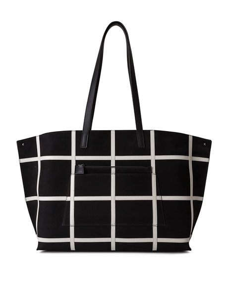 Ai Medium Plaid Reversible Shoulder Bag