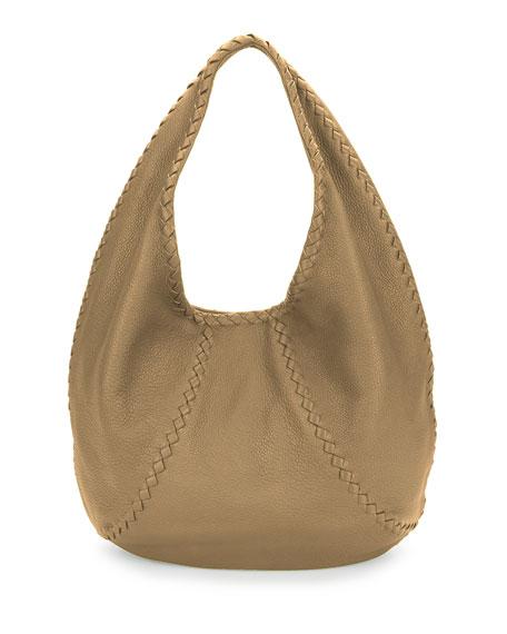 Cervo Large Leather Hobo Bag