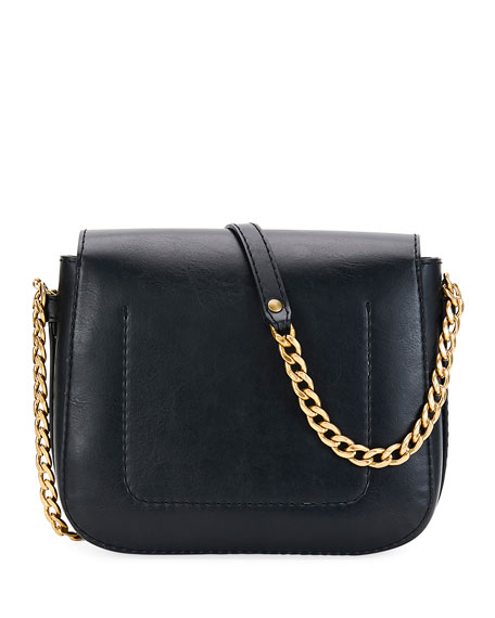 Stella McCartney Popper Medium Faux-Leather Crossbody Bag, Black 36f5ac74d5