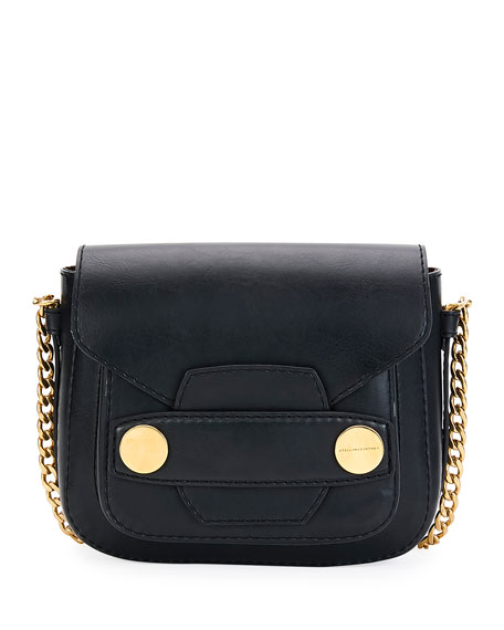 91a6531dad Stella McCartney Popper Medium Faux-Leather Crossbody Bag