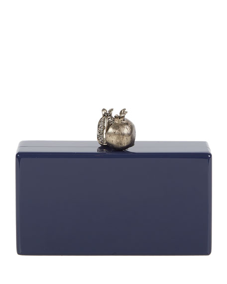 Edie Parker Jean Pomegranate Clutch Bag, Navy
