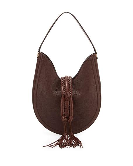 Altuzarra Ghianda Small Woven Leather Hobo Bag