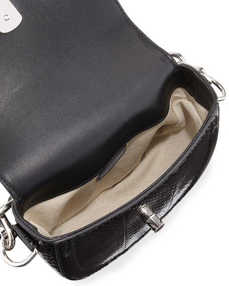 Ghianda Snakeskin Mini Saddle Bag, Multipattern