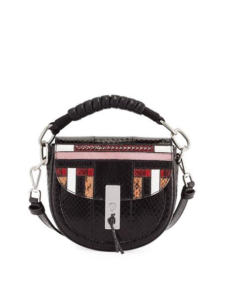 Altuzarra Ghianda Mini Snakeskin Saddle Bag, Multipattern