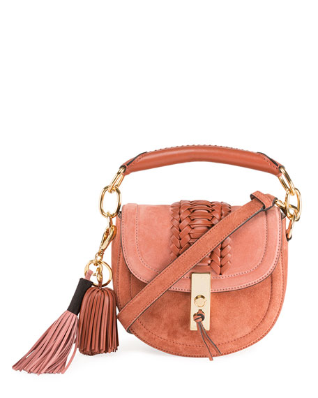Altuzarra Mini Braided Top-Handle Saddle Bag, Pink