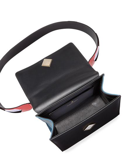 Alex Mini Black Widow Satchel Bag, Red/Multi