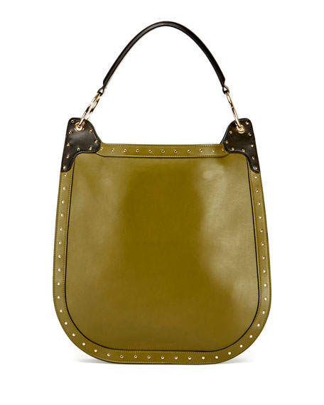 Domaine 33 Leather Hobo Bag, Glove/Green