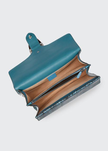 Dionysus Small Blind For Love Shoulder Bag, Blue Pattern