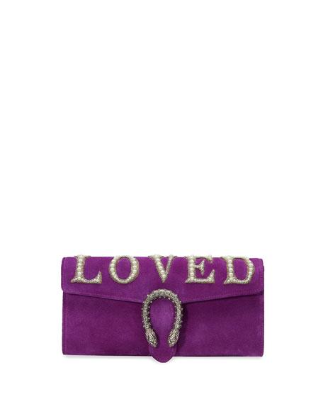 Dionysus Loved Suede Clutch Bag