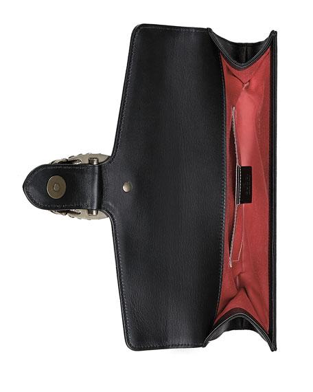 40bf34b0d787 Gucci Dionysus Satin Clutch Bag, Black