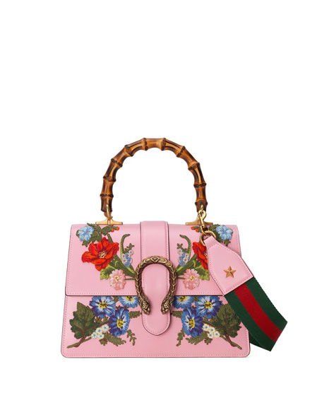 f47e3c591dd Gucci Dionysus Small Embroidered Floral Satchel Bag