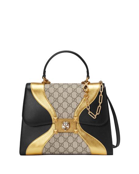 Gucci Iside Linea G Medium Shoulder Bag, Black