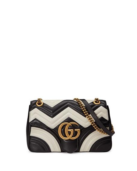 f34eb671901 Gucci GG Marmont 2.0 Medium Chevron Shoulder Bag