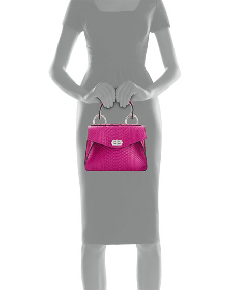 Hava Small Python Top-Handle Bag