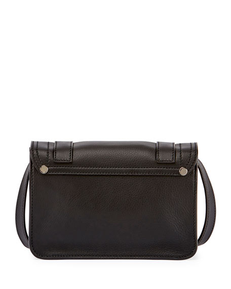 PS1 Mini Leather Crossbody Bag, Black