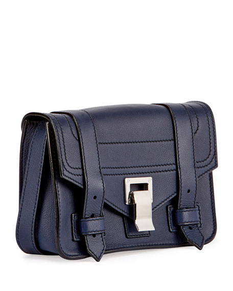 PS1 Mini Leather Crossbody Bag, Blue