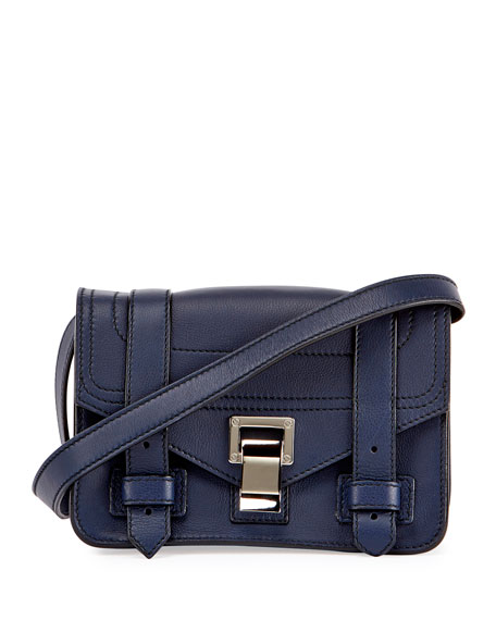PS1 Mini Leather Crossbody Bag, Blue