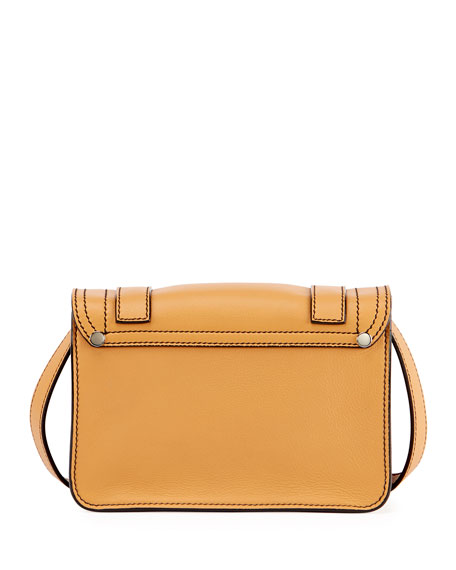 PS1 Mini Leather Crossbody Bag, Beige