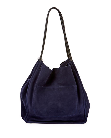 Extra Large Suede Tote - Blue Proenza Schouler JqZtHP4c6