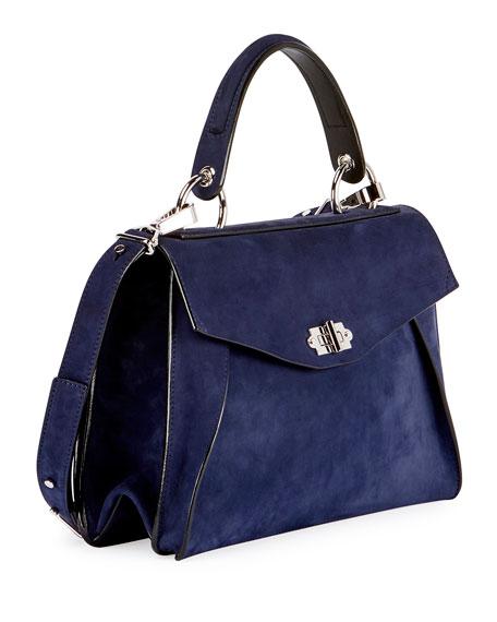Hava Medium Top-Handle Satchel Bag, Blue
