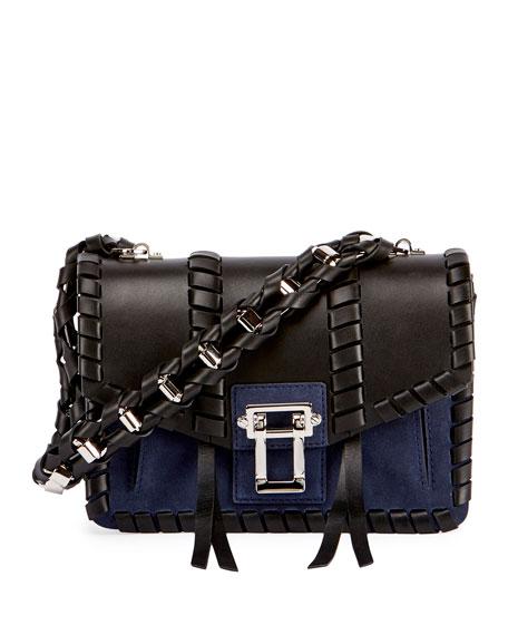 Hava Whipstitched Chain Shoulder Bag, Black