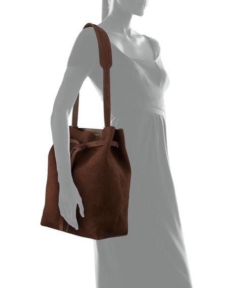 Drawstring Suede Hobo Bag