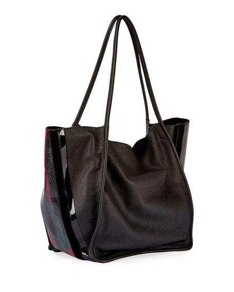Extra Large Lindos Tote Bag, Black