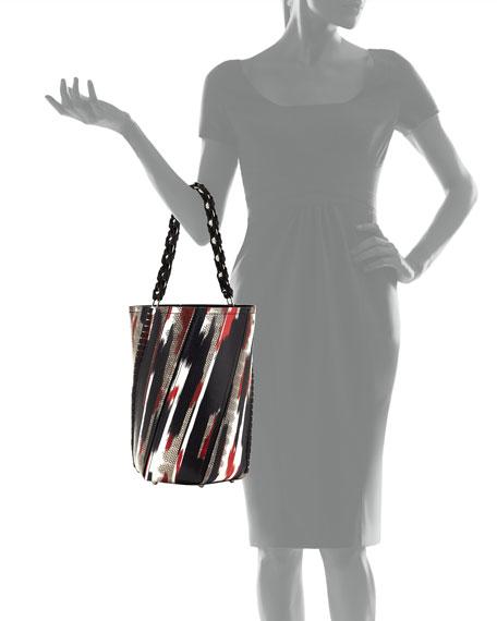 Hex Large Whipstitch Brushstroke Bucket Bag