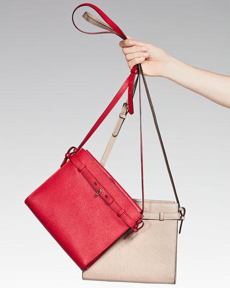 B-Tracollina Leather Shoulder Bag