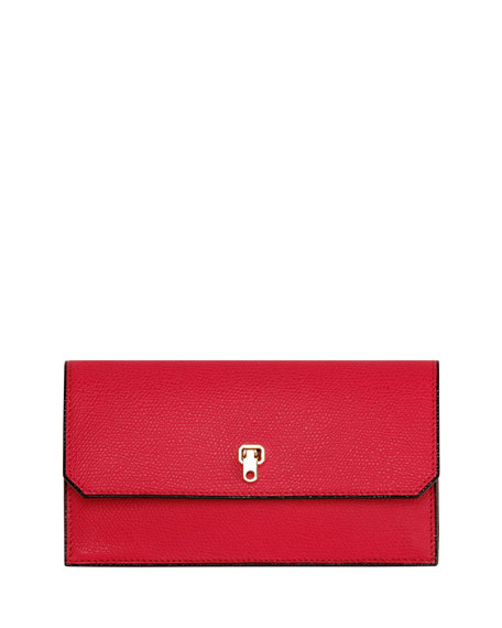Medium Leather Flap-Top Wallet