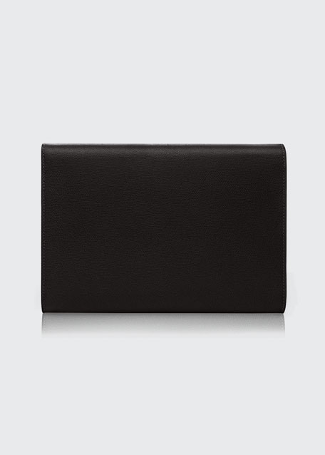 Leather Tablet Cover/Clutch Bag, Black
