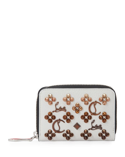 Panettone Embellished Leather Coin Purse