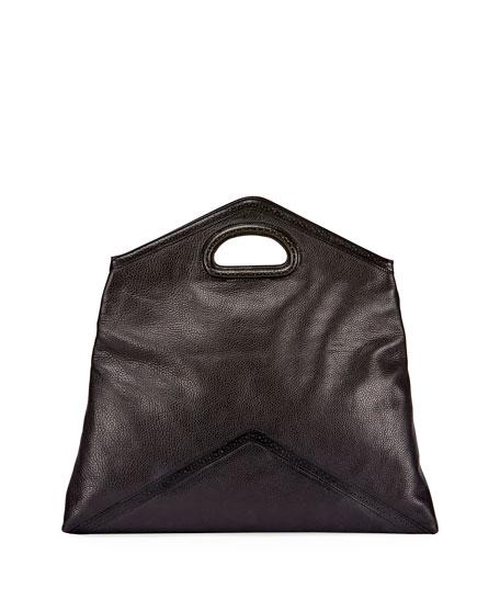 Leather Clutch Bag, Black