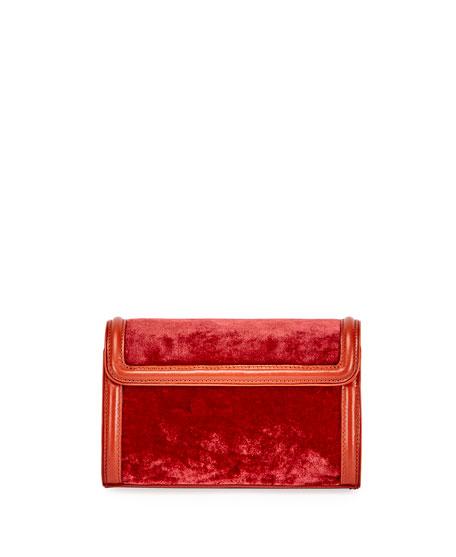Velvet Shoulder Bag, Red