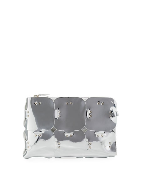 16#01 Dragonne Mirrored Pouch Clutch Bag