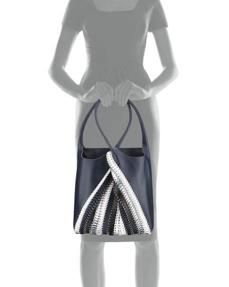 1401 Pliage Chain-Link Tote Bag, Blue