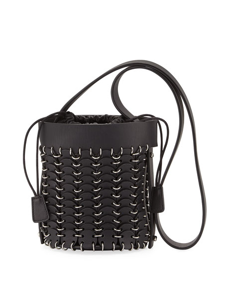 14#01 Chain-Link Mini Bucket Bag, Black