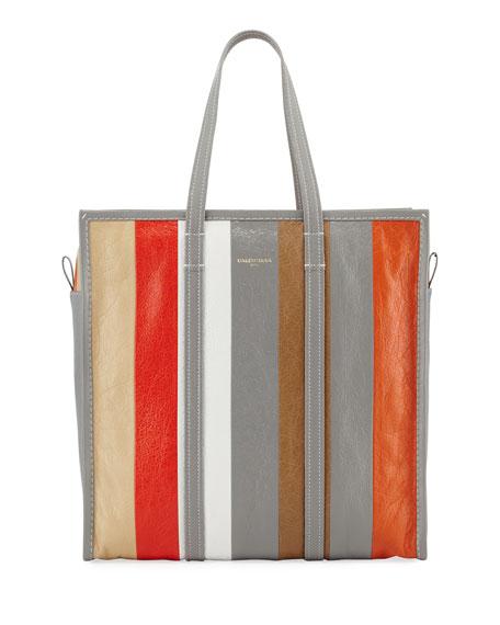 e2c155595 Balenciaga Bazar Shopper Medium Striped Leather Tote Bag
