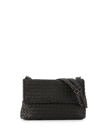 Bottega Veneta Olimpia Small Shoulder Bag, Black