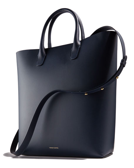North-South Leather Tote Bag
