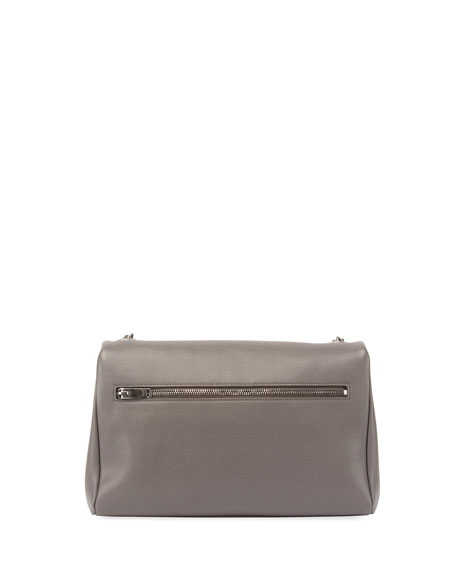 West Hollywood Monogram Shoulder Bag, Light Gray