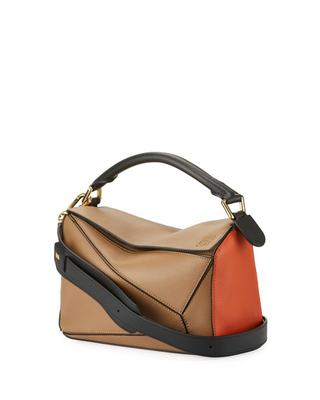 Loewe Puzzle Small Colorblock Leather Bag