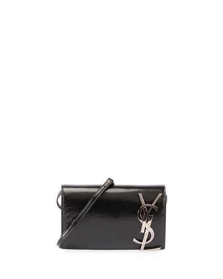 Smoking Leather Wallet on a Strap, Black